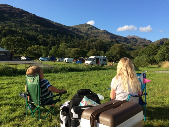 View of Snowdon from Campsite