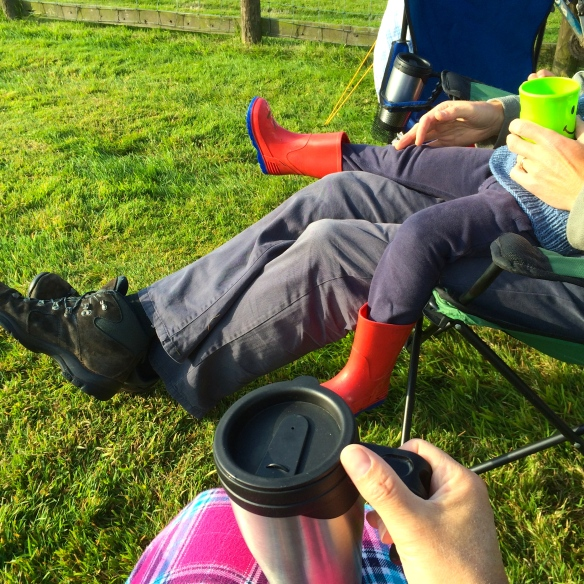 camping tea time