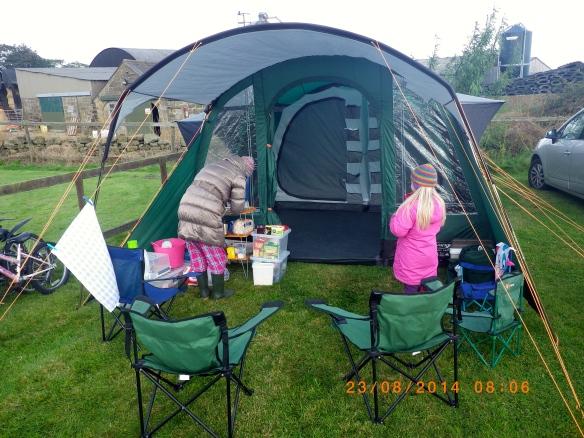 tent set up camping