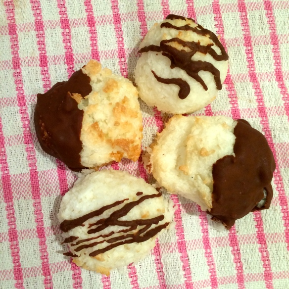 coconut haystacks macaroons chocolate