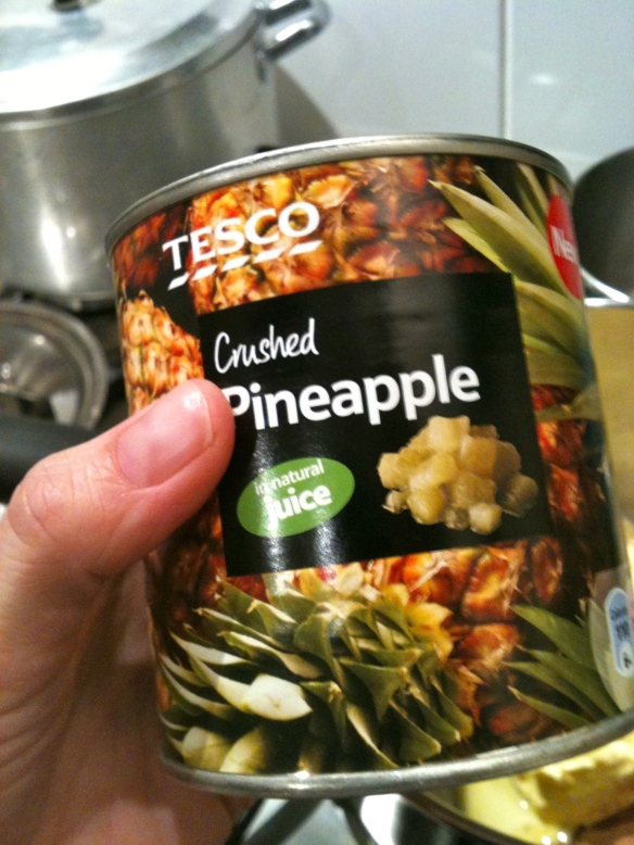 Can of crushed pineapple
